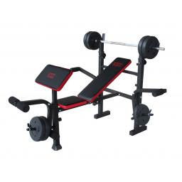 MOTIVEfitness by U.N.O. Bronx Weight Bench & Weight Set