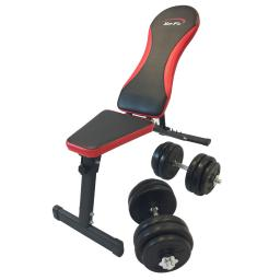 XerFit Dumbbell Weight Bench & 30kg Weight Set