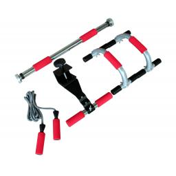 XerFit Conditioning Pack - Skip Rope, Chinning bar, Push Up Stands, Sit Up Bar