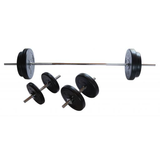 V-fit 50kg Barbell Dumbbell Weight Set
