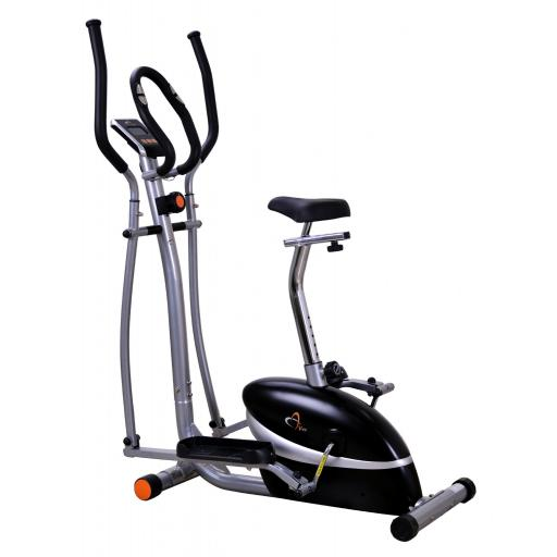 V-fit Magnetic 2-in-1 Combination Cycle-Elliptical Trainer