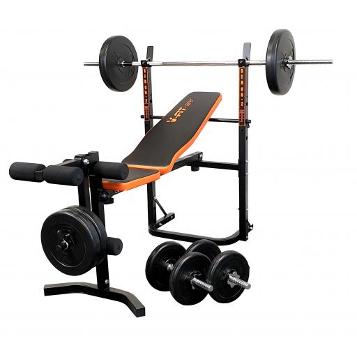 V-fit STB09-1 Bench & 50kg Weight Set