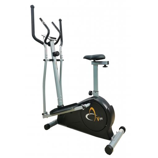 V-fit MCCT-2 Magnetic 2-in-1 Combination Cycle-Elliptical Trainer
