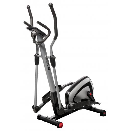 MOTIVEfitness by UNO CT1000 Programmable Magnetic Elliptical Trainer (silver)